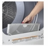 "GTD33EASKWW GE 27"" Front Load Electric Dryer with 7.2 cu. ft. Capacity and Aluminnized Alloy Drum - White"