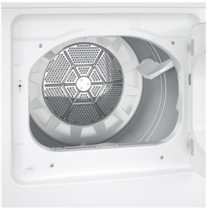 GTD42EASJWW GE 7.2 cu. ft. Capacity Aluminized Alloy Drum Electric Dryer  with 4 Drying Cycles - White