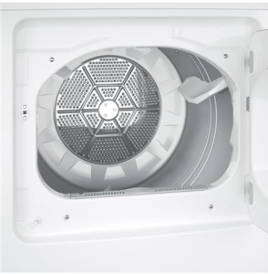 "GTD45GASJWS GE 27"" Gas Dryer with 7.2 cu. ft. Capacity 4 Drying Cycles - White"