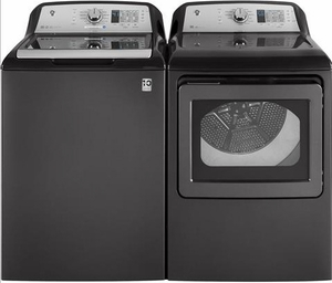 GTD65EBPLDG 7.4 cu. ft. Capacity Aluminized Alloy Drum Electric Dryer with HE Sensor Dry and Damp Alert - Gray