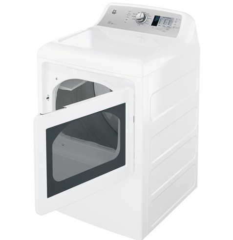 "GTD65EBSJWS GE 27"" Electric Dryer 7.4 cu. ft. Capacity Aluminized Alloy Electric Dryer with HE Sensor Dry - White"