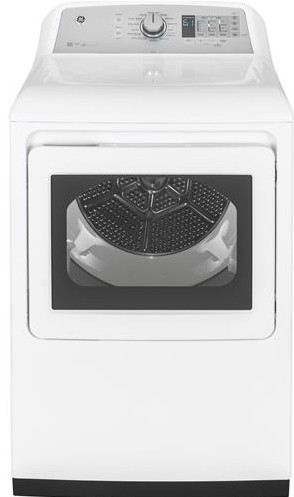 "GTD75ECSLWS GE 27"" Front-Load 7.4 cu. ft. Capacity Electric Dryer with Steam Select and WiFi Connect - White"