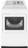 "GTD75GCSLWS GE 27"" Front-Load 7.4 cu. ft. Capacity Gas Dryer with Steam Select and WiFi Connect - White"