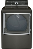 GTD86ESPJMC GE 7.8 Cu. Ft. Capacity Electric Dryer with Stainless Steel Drum and Steam - Metallic Carbon