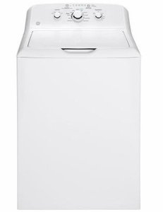 "GTW330ASKWW GE 27"" Top Load Washer with 3.8 DOE cu.ft.Capacity and Stainless Steel Basket - White"