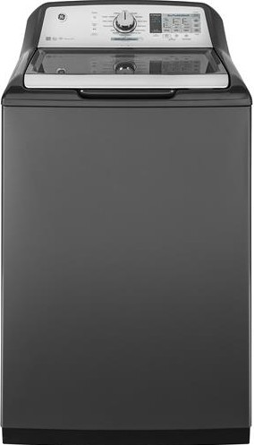 """GTW750CPLDG GE 27"""" Top-Load 5.0 cu. ft. Capacity Washer with SmartDispense Technology and WiFi Connect - Gray"""
