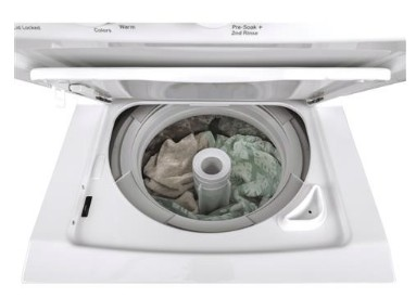 """GUD24ESSMWW GE 24"""" Laundry Center with Rotary Electronic Controls and 11 Wash Cycles - White"""