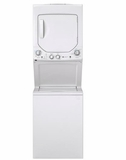 "GUD24ESSMWW 24"" GE 2.3 DOE cu. ft. Washer and 4.4 cu ft. Electric Dryer with Rotary Electronic Controls and 11 Wash Cycles - White"