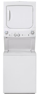 "GUD27ESSMWW GE 27"" Laundry Center with Washer and 5.9 cu ft. Electric Dryer with Rotary Electronic Controls and 11 Wash Cycles - White"