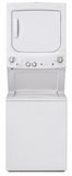 "GUD27GSSMWW 27"" GE 3.8 DOE cu. ft. Washer and 5.9 cu ft. Gas Dryer with Rotary Electronic Controls and 11 Wash Cycles - White"