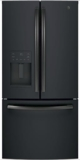 """GYE18JEMDS GE 33"""" 17.5 Cu. Ft. Counter Depth French Door Refrigerator with Turbo Cool Setting and Quick Space Shelf - Black Slate"""