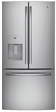 "GYE18JSLSS GE 33"" Profile Series 17.5 Cu. Ft. Counter-Depth French Door Refrigerator with Turbo Cool Setting and Quick Space Shelf - Stainless Steel"