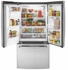 "GYE18JSLSS GE 33"" 17.5 Cu. Ft. Counter Depth French Door Refrigerator with Turbo Cool Setting and Quick Space Shelf - Stainless Steel"