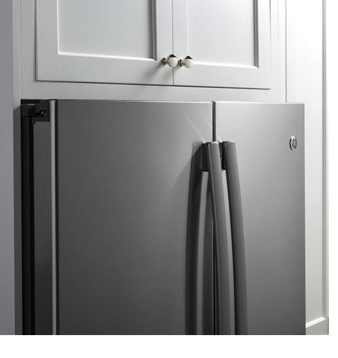 """GYE22HSKSS GE 36"""" Counter Depth 22.2 Cu. Ft. French Door Refrigerator with TwinChill Evaporators - Stainless Steel"""