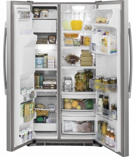 GZS22DSJSS GE 21.9 Cu. Ft. Counter Depth Side-By-Side Refrigerator - Stainless Steel