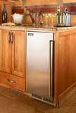 "H50IMWAD Perlick 15"" ADA Compliant Clear Ice Maker with Integrated Solid Overlay Door - Hinge Reversible (Standard Left)"