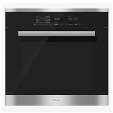 "H6281BP Miele 30"" Convection Oven with DirectSelect Controls and CleanGlass Door - Clean Touch Steel"