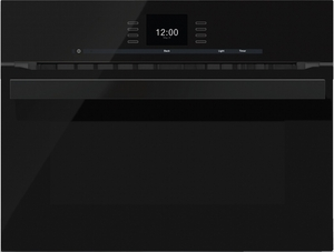 """H6600BMBL Miele 24"""" PureLine SensorTronic Speed Oven with Rapid Preheat - Obsidian Black"""