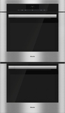 "H6780BP2 Miele 30"" ContourLine M Touch Convection Double Oven - Black Glass/Stainless Steel"