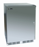 "HA24FB31L Perlick ADA Compliant 24"" Built-in Indoor Freezer with Solid Stainless Steel Door - Left Hinge"