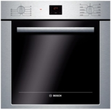 """HBE5451UC Bosch 24"""" Single Wall Oven With 10 Specialized Cooking Modes - Stainless Steel"""