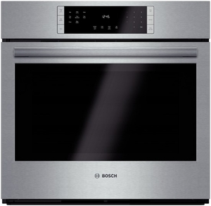 """HBL8451UC Bosch 800 Series 30"""" Single Electric Wall Oven with European Convection - Stainless Steel"""