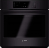 """HBL8461UC Bosch 800 Series 30"""" Single Electric Wall Oven with European Convection - Black"""