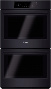 "HBL8661UC Bosch 800 Series 30"" Double Electric Wall Oven with Thermal Cooking - Black"