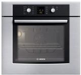 "HBN3450UC Bosch 27"" 300 Series Electric Wall Oven with ClearTouch Glass Controls and EcoClean 2-Hour Self-Clean Cycle - Stainless Steel"