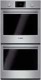 "HBN5651UC Bosch 500 Series 27"" Double Electric Wall Oven with Convection Cooking - Stainless Steel"