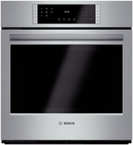 """HBN8451UC Bosch 800 Series 27"""" Single Electric Wall Oven with European Convection - Stainless Steel"""