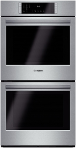 """HBN8651UC Bosch 800 Series 27"""" Double Electric Wall Oven with European Convection - Stainless Steel"""