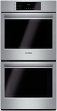 "HBN8651UC Bosch 800 Series 27"" Double Electric Wall Oven with European Convection - Stainless Steel"