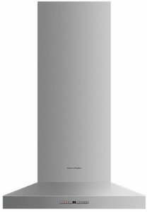 "HC24PHTX1N Fisher & Paykel 24"" Pyramind Wall Mounted Chimney Hood with 600 CFM Blower - Stainless Steel"
