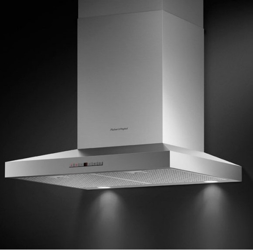 "HC24PHTX1 Fisher & Paykel 24"" Pyramind Wall Mounted Chimney Hood with 600 CFM Blower - Stainless Steel"