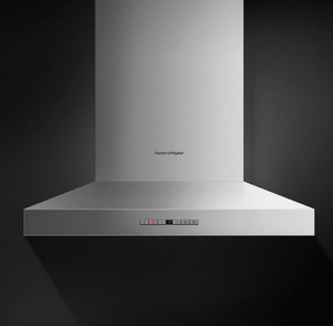 """HC24PHTX1N Fisher & Paykel 24"""" Pyramind Wall Mounted Chimney Hood with 600 CFM Blower - Stainless Steel"""
