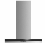 "HC30DTXB2 Fisher & Paykel 30"" Wall Chimney Vent Hood with 600 CFM Blower and Soft Touch Control Panel - Stainless Steel"
