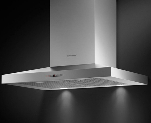 """HC30PHTX1N Fisher & Paykel 30"""" Pyramid Wall Mounted Chimney Hood with 600 CFM Blower - Stainless Steel"""