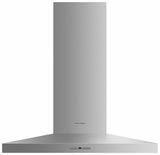 "HC36PHTX1 Fisher & Paykel 36"" Pyramid Wall Mounted Chimney Hood with 600 CFM Blower - Stainless Steel"