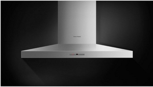 """HC36PHTX1N Fisher & Paykel 36"""" Pyramid Wall Mounted Chimney Hood with 600 CFM Blower - Stainless Steel"""