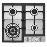 """HCC2230AGS Haier 24"""" Gas Cooktop with 4 Sealed Burners and Triple Ring Burner - Stainless Steel"""
