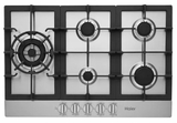 "HCC3230AGS Haier 30"" Gas Cooktop with 5 Sealed Burners and Triple Ring Burner - Stainless Steel"
