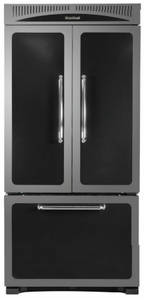 "HCFDR23BLK Heartland 36"" Counter Depth Classic French Door Refrigerator with Custom Temperature Controls - Black"