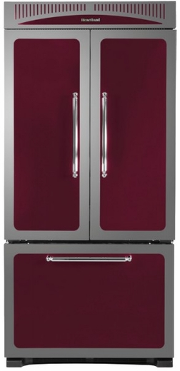 "HCFDR23CRN Heartland 36"" Counter Depth Classic French Door Refrigerator with Custom Temperature Controls - Cranberry"