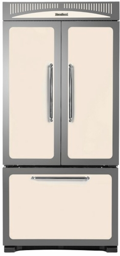 """HCFDR23IVY Heartland 36"""" Counter Depth Classic French Door Refrigerator with Custom Temperature Controls - Ivory"""