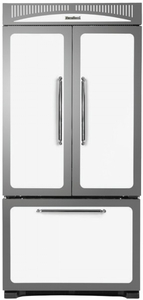 "HCFDR23WHT Heartland 36"" Counter Depth Classic French Door Refrigerator with Custom Temperature Controls - White"