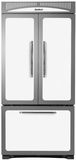 """HCFDR23WHT Heartland 36"""" Counter Depth Classic French Door Refrigerator with Custom Temperature Controls - White"""
