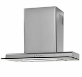 """HCH2100ACS Haier 24"""" Slanted Chimney Vent with 450 CFM and Push Touch Controls - Stainless Steel"""