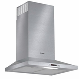 "HCP34E51UC Bosch 24"" 300 Series Pyramid Canopy Chimney Hood with 300 CFM and LCD Touch Display - Stainless Steel"