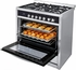 "HCR6250AGS Haier 36"" 3.8 Cubic Feet Gas Freestanding Range with 5 Sealed Burners and Halogen Interior Lighting - Stainless Steel"